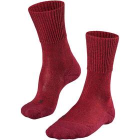 Falke TK1 Wool Calcetines de Trekking Mujer, rojo/blanco